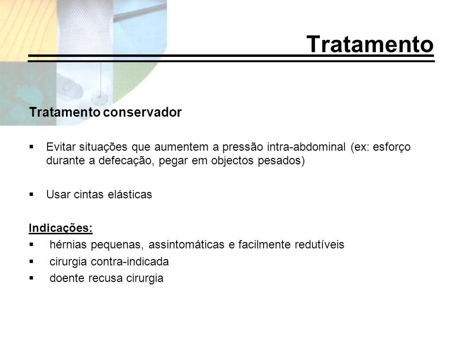 Tratamento Tratamento conservador