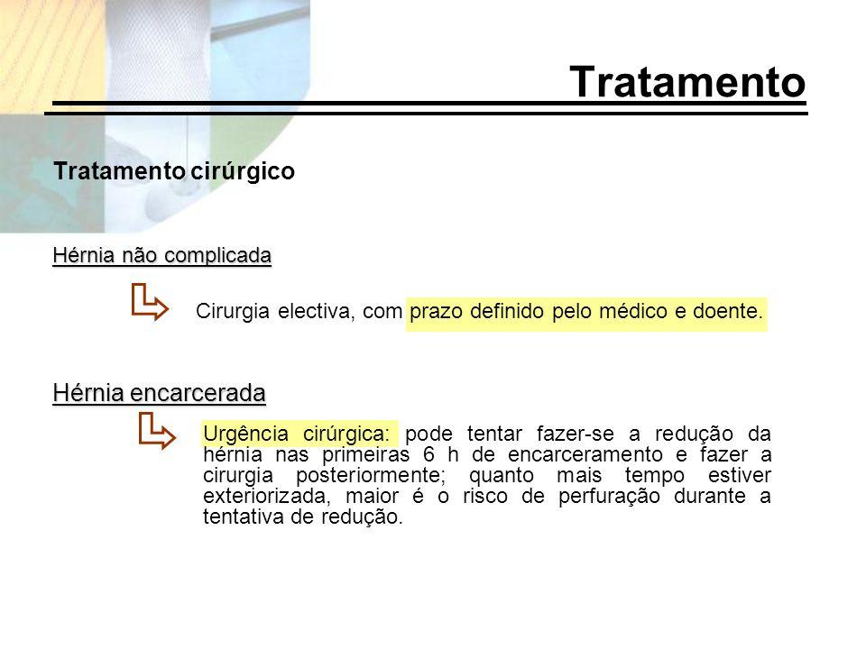 Tratamento Tratamento cirúrgico Hérnia encarcerada