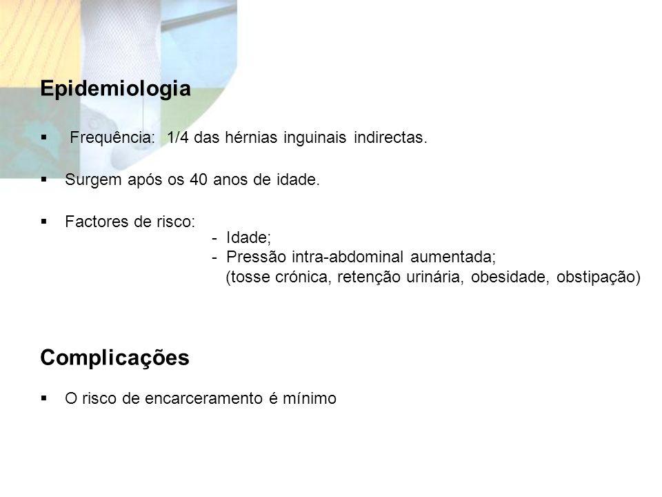 Epidemiologia Complicações