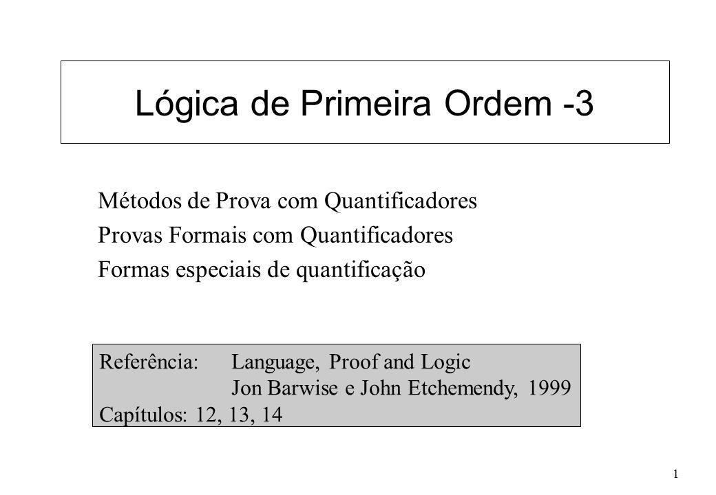 Lógica de Primeira Ordem -3
