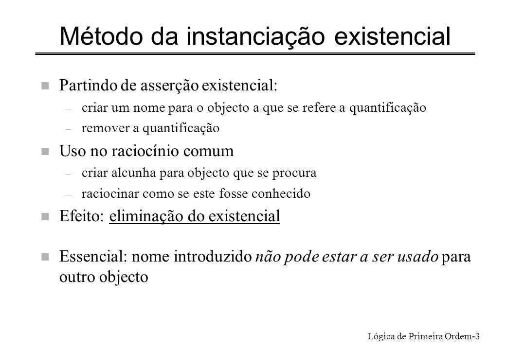 Método da instanciação existencial