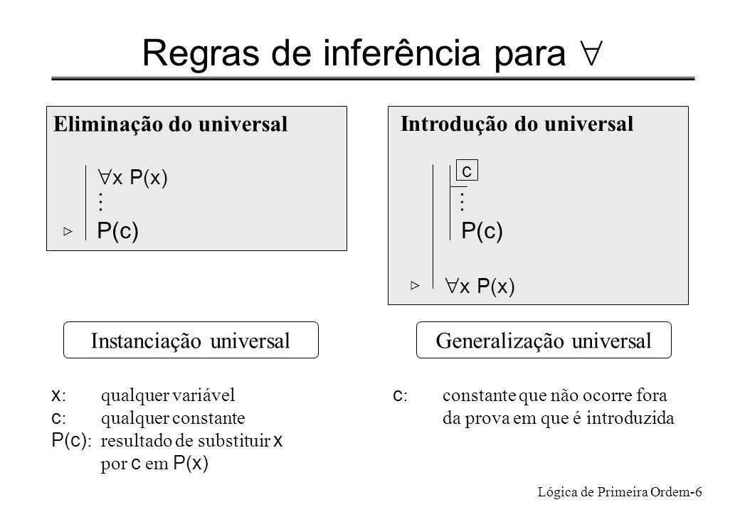 Regras de inferência para