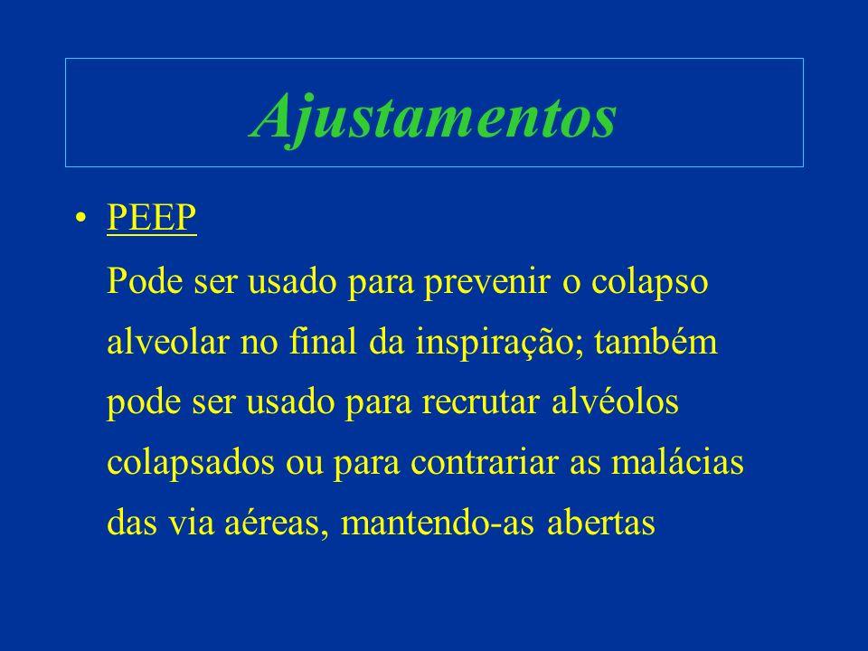Ajustamentos PEEP.