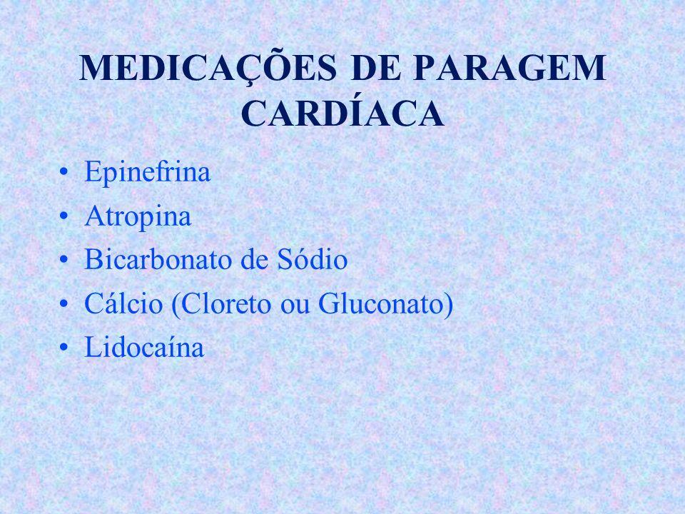 MEDICAÇÕES DE PARAGEM CARDÍACA
