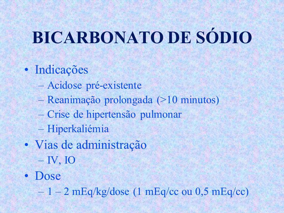 BICARBONATO DE SÓDIO Indicações Vias de administração Dose
