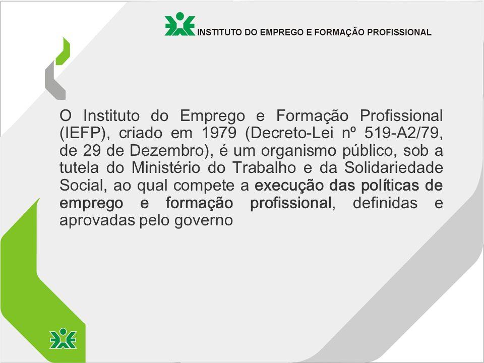 O Instituto do Emprego e Formação Profissional (IEFP), criado em 1979 (Decreto-Lei nº 519-A2/79, de 29 de Dezembro), é um organismo público, sob a tutela do Ministério do Trabalho e da Solidariedade Social, ao qual compete a execução das políticas de emprego e formação profissional, definidas e aprovadas pelo governo