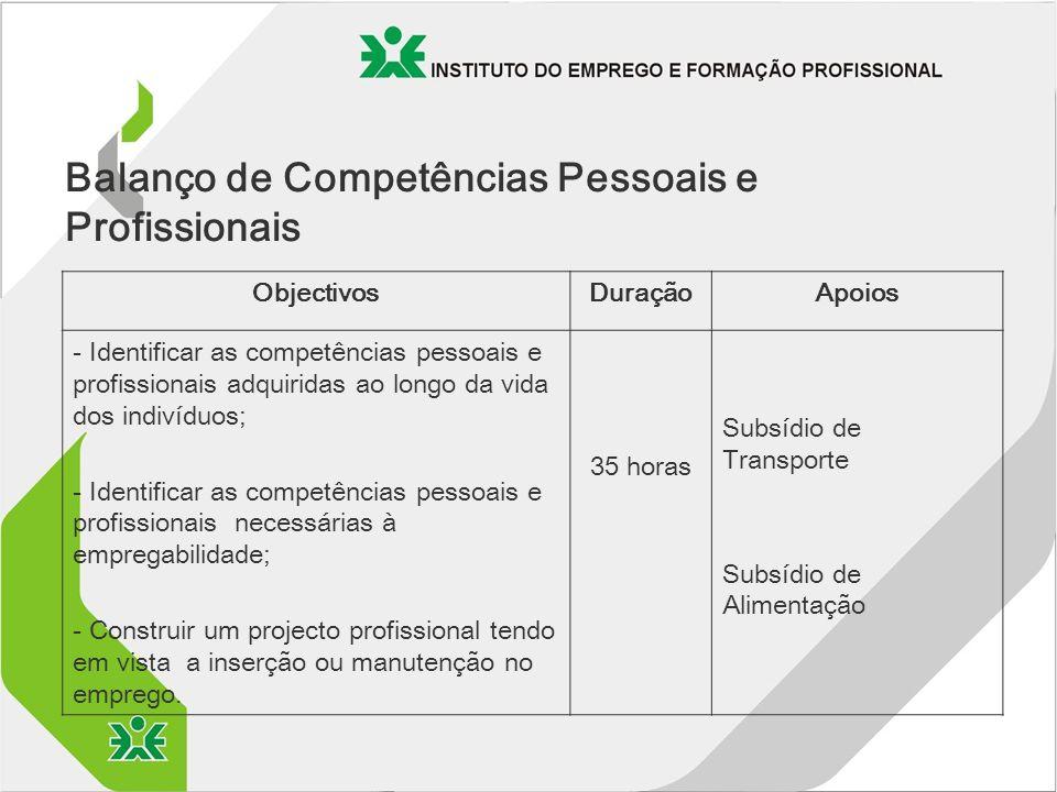 Balanço de Competências Pessoais e Profissionais