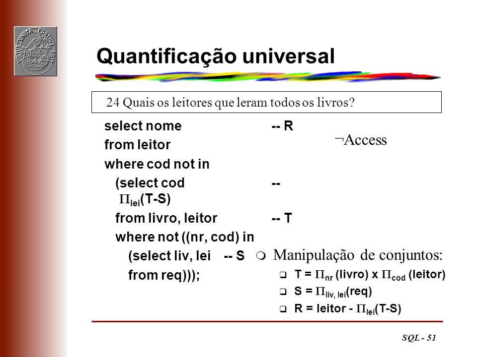 Quantificação universal