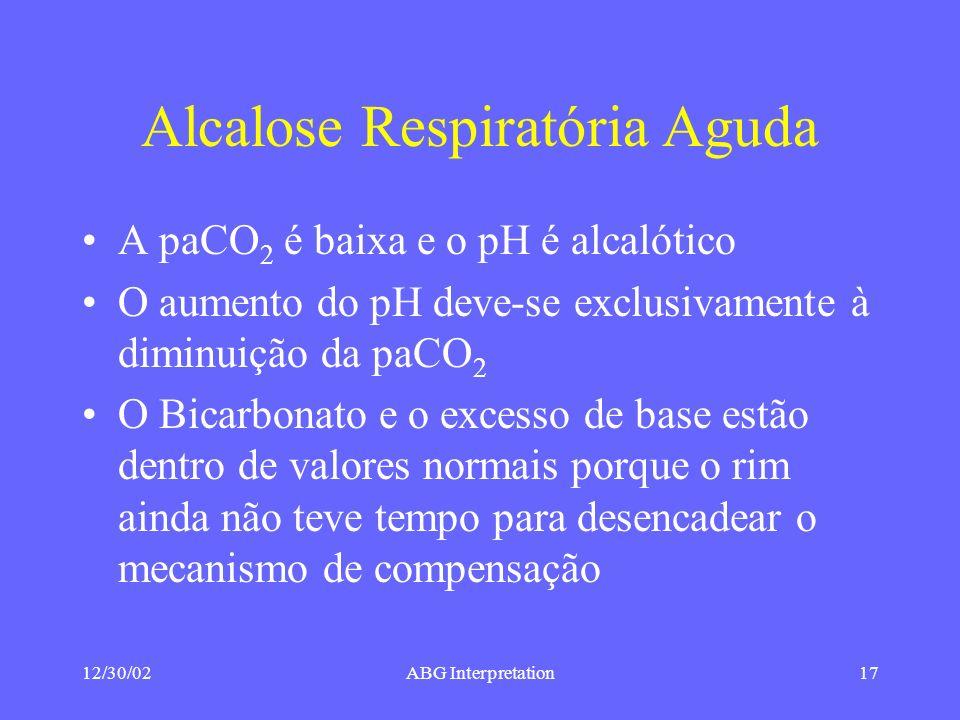 Alcalose Respiratória Aguda