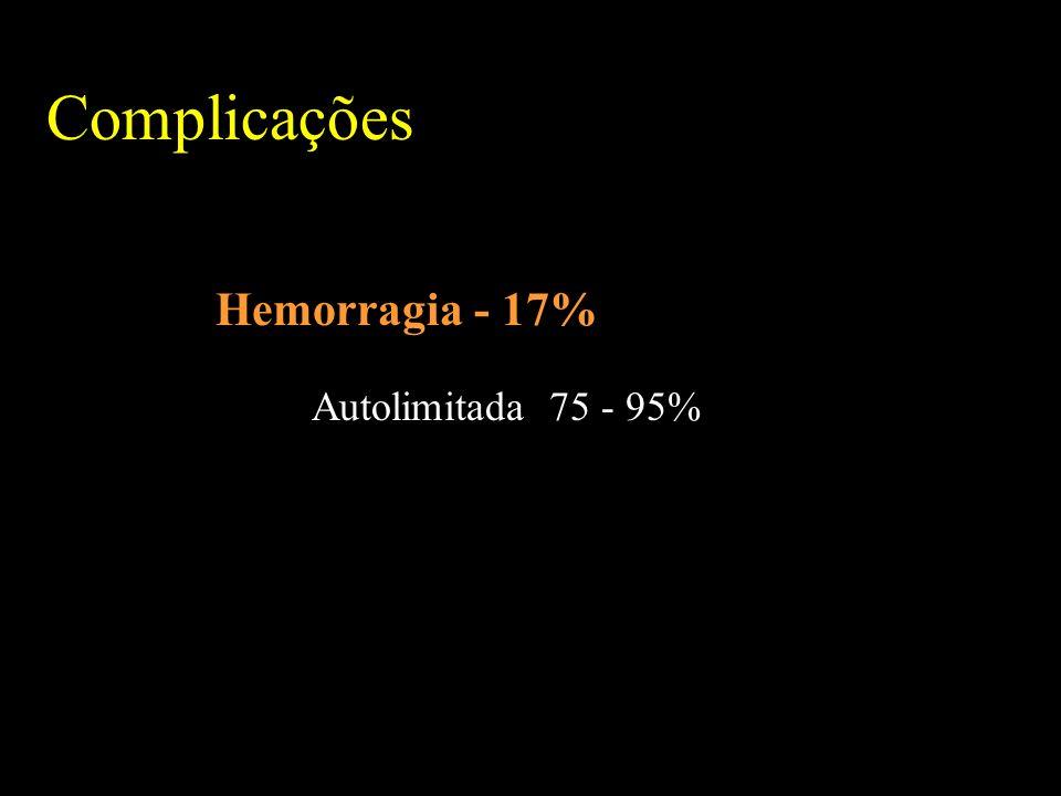 Hemorragia - 17% Autolimitada 75 - 95%