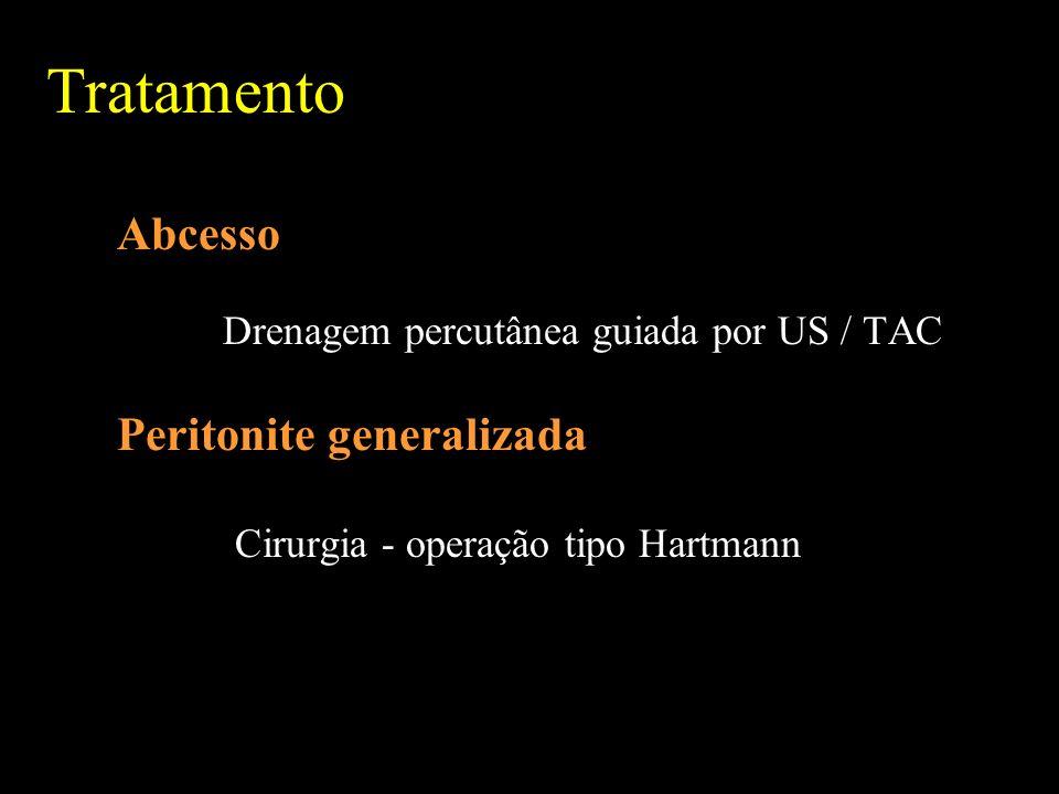 Tratamento Abcesso Peritonite generalizada