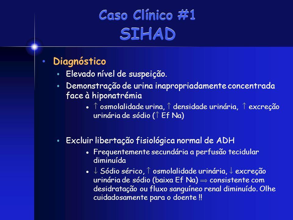 Caso Clínico #1 SIHAD Diagnóstico Elevado nível de suspeição.