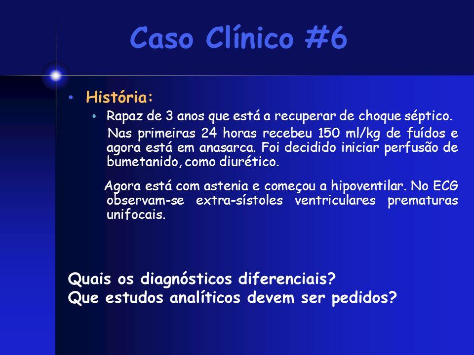 Caso Clínico #6 História: Quais os diagnósticos diferenciais