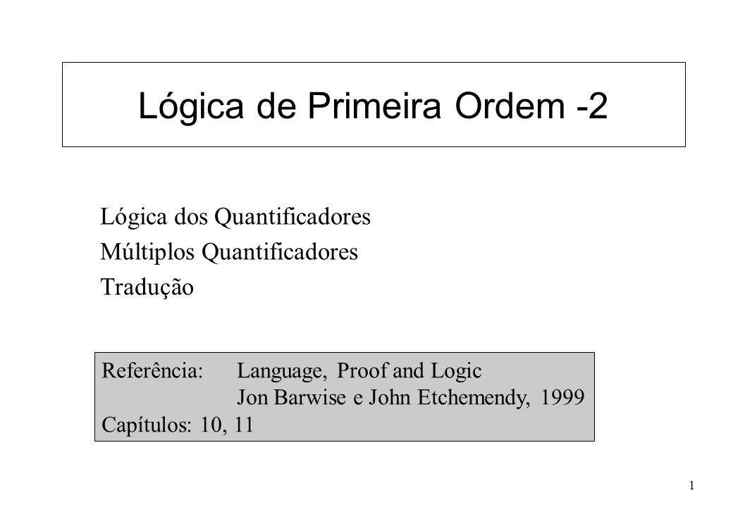 Lógica de Primeira Ordem -2