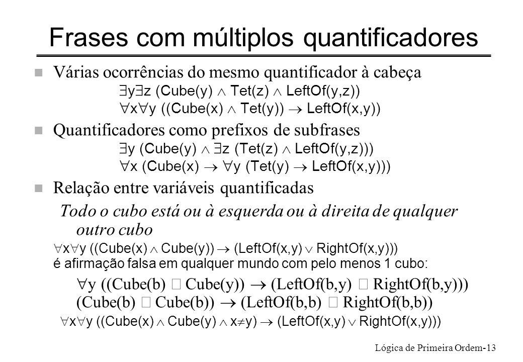Frases com múltiplos quantificadores