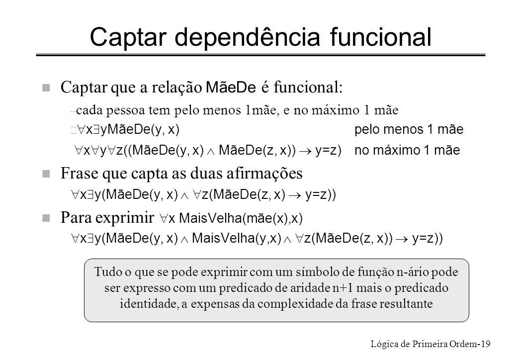 Captar dependência funcional