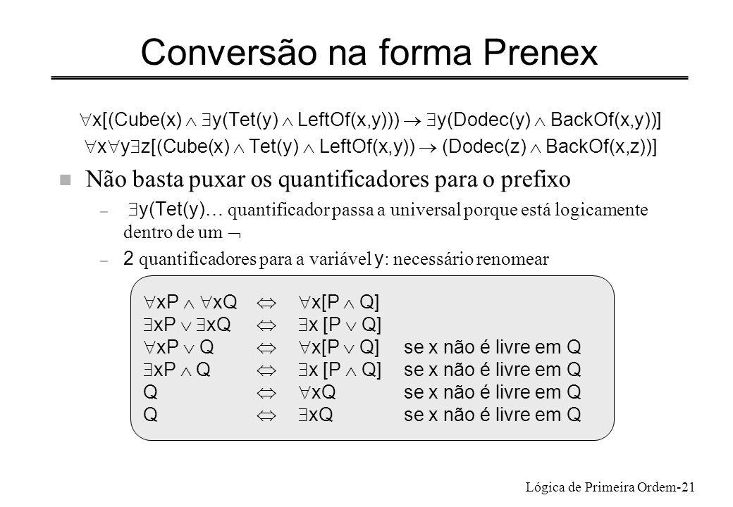 Conversão na forma Prenex