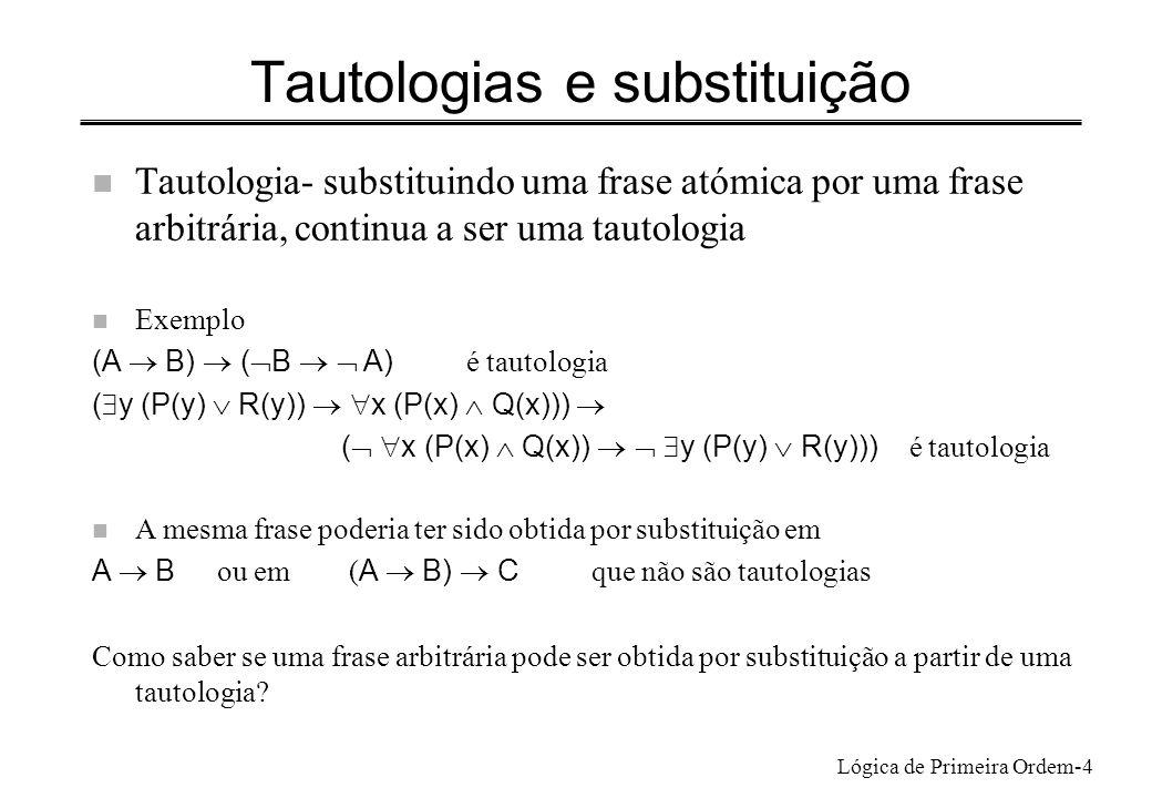 Tautologias e substituição