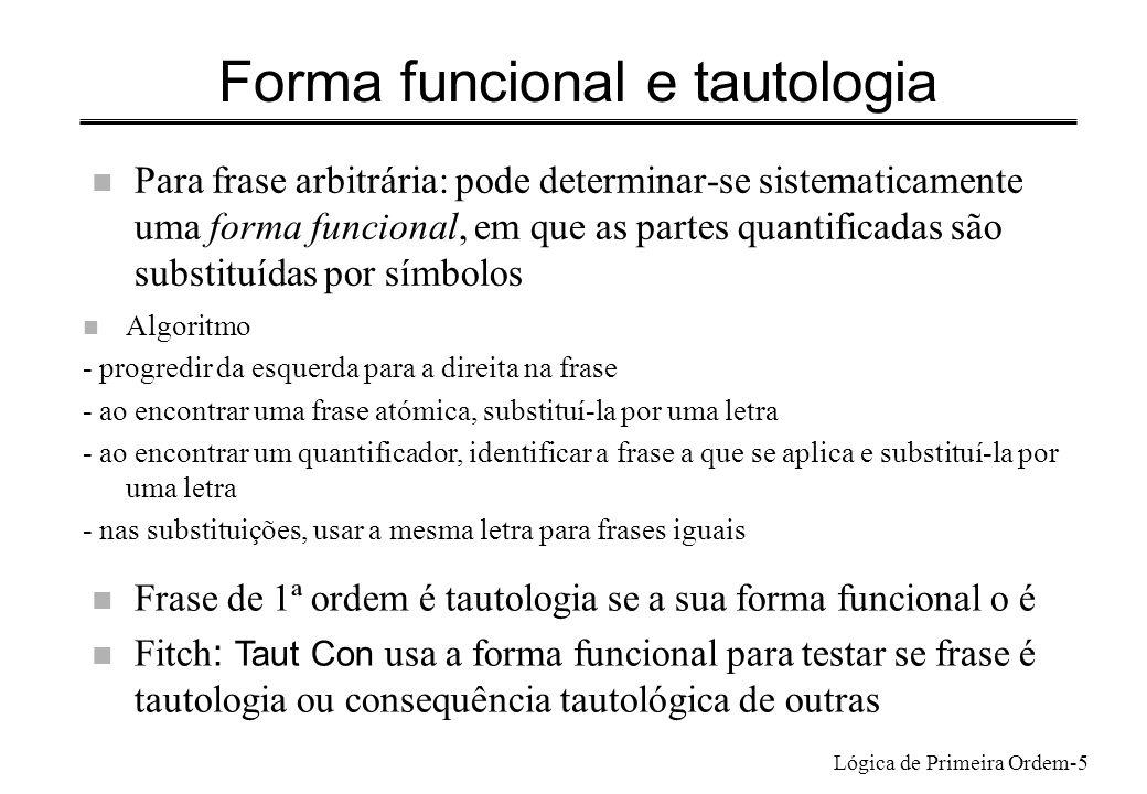 Forma funcional e tautologia