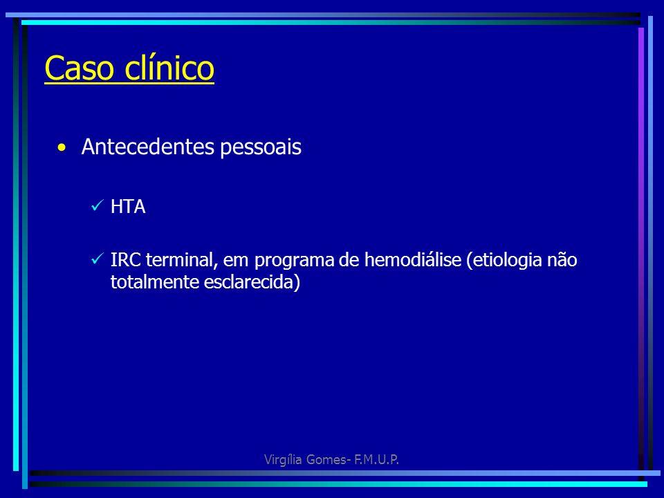 Caso clínico Antecedentes pessoais HTA