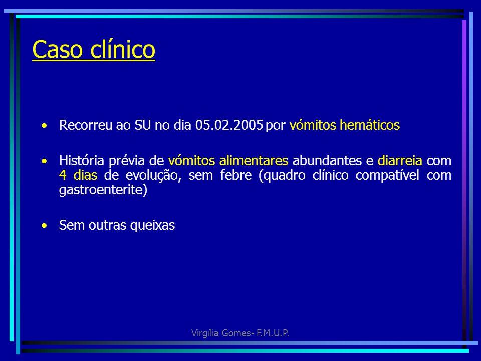 Caso clínico Recorreu ao SU no dia 05.02.2005 por vómitos hemáticos