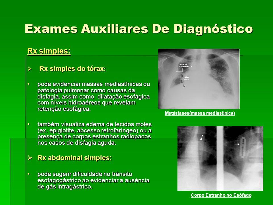 Exames Auxiliares De Diagnóstico