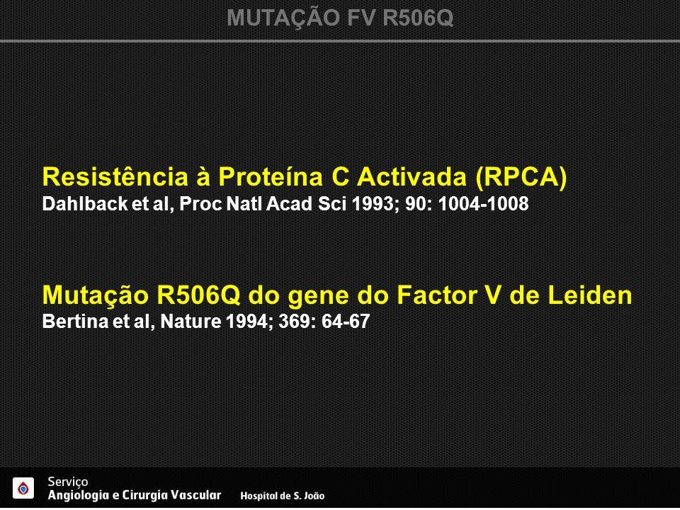 Resistência à Proteína C Activada (RPCA)