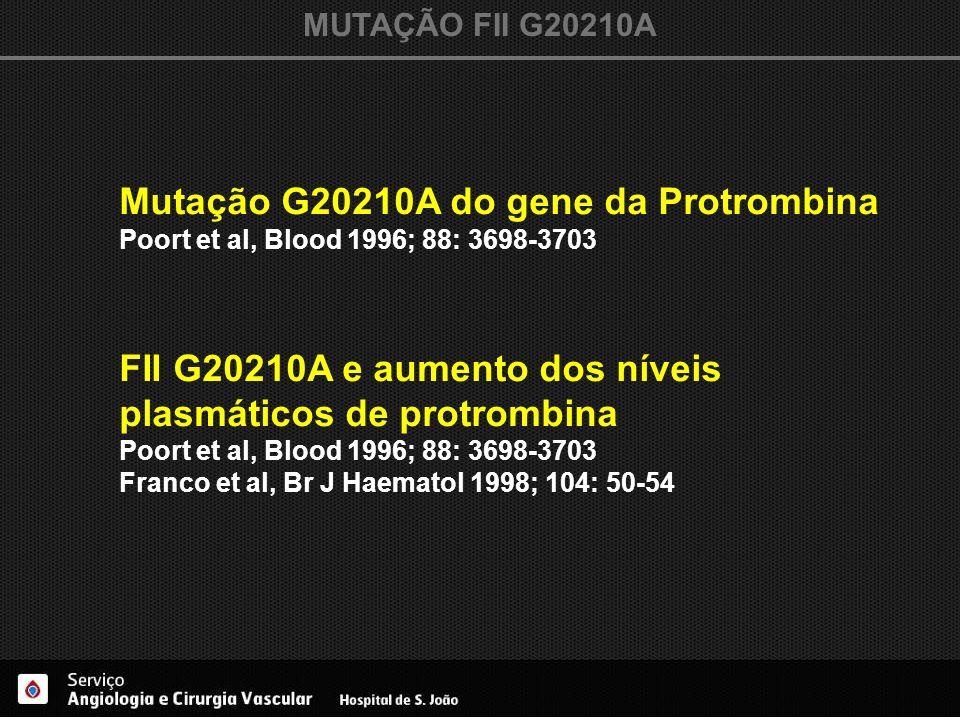 Mutação G20210A do gene da Protrombina