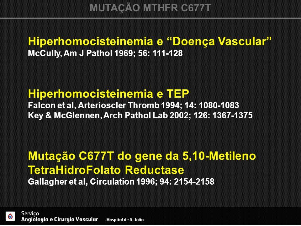 Hiperhomocisteinemia e Doença Vascular