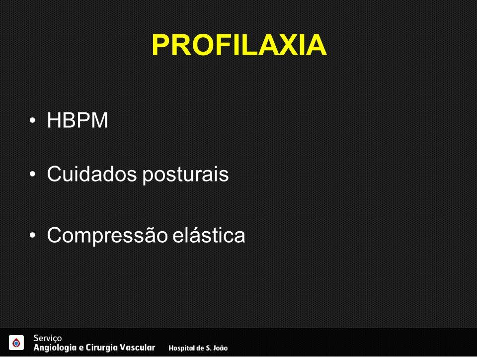 PROFILAXIA HBPM Cuidados posturais Compressão elástica