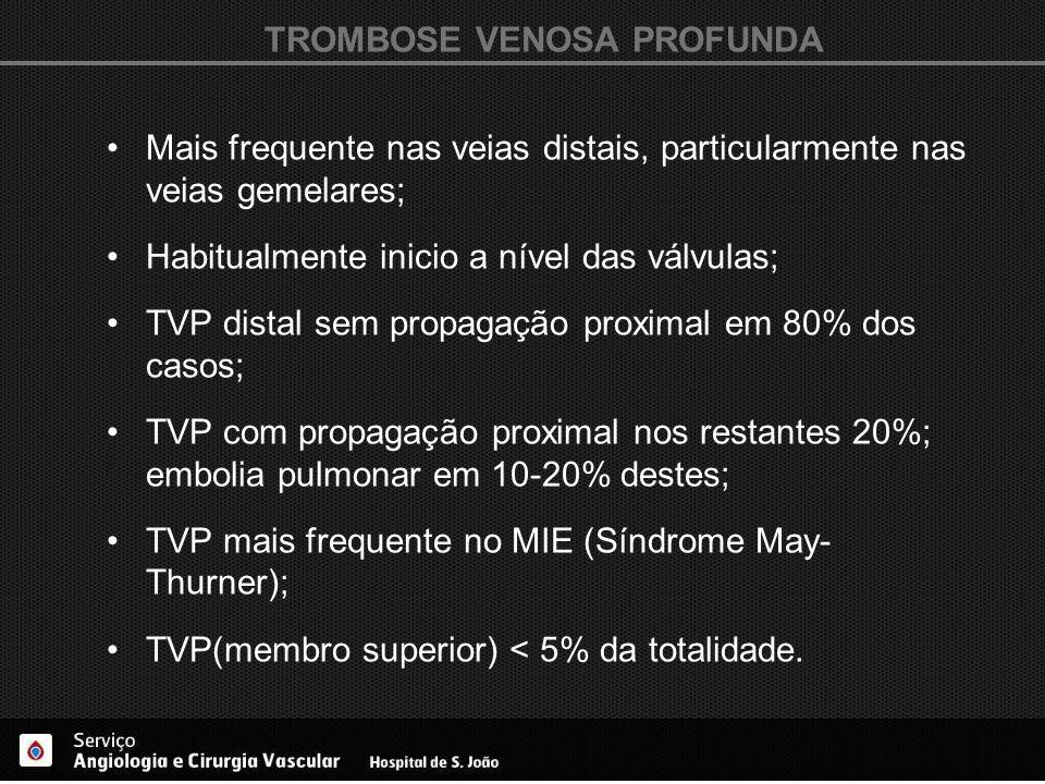 TROMBOSE VENOSA PROFUNDA