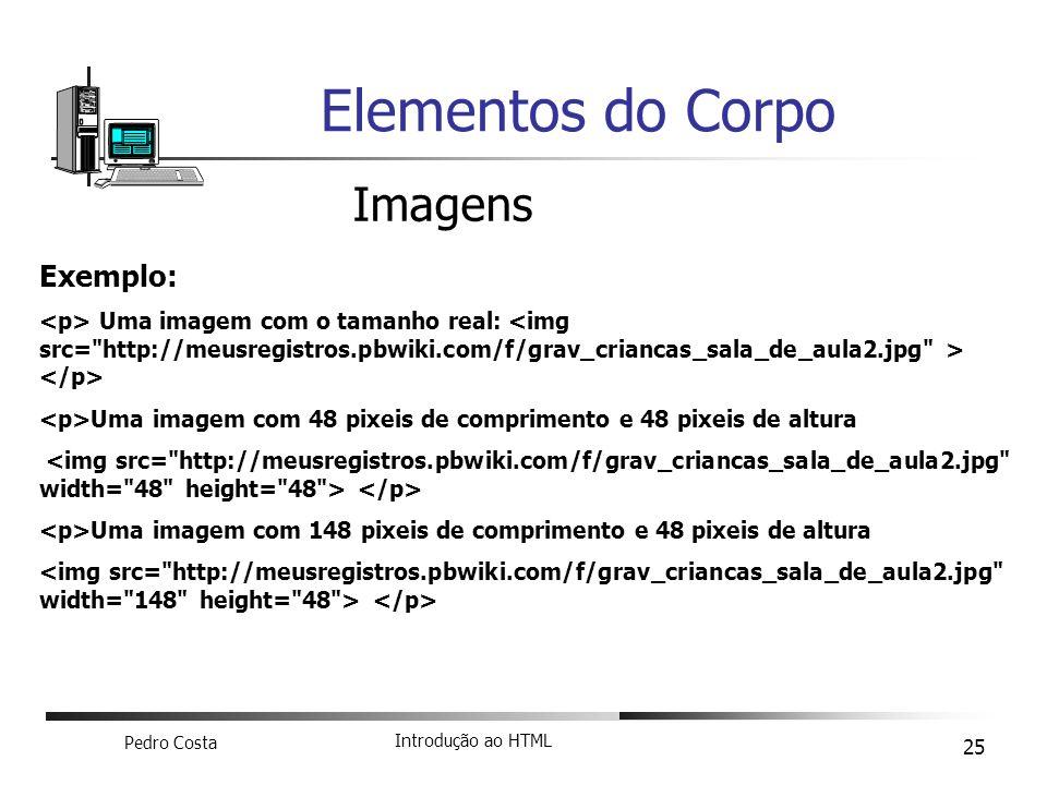 Elementos do Corpo Imagens Exemplo:
