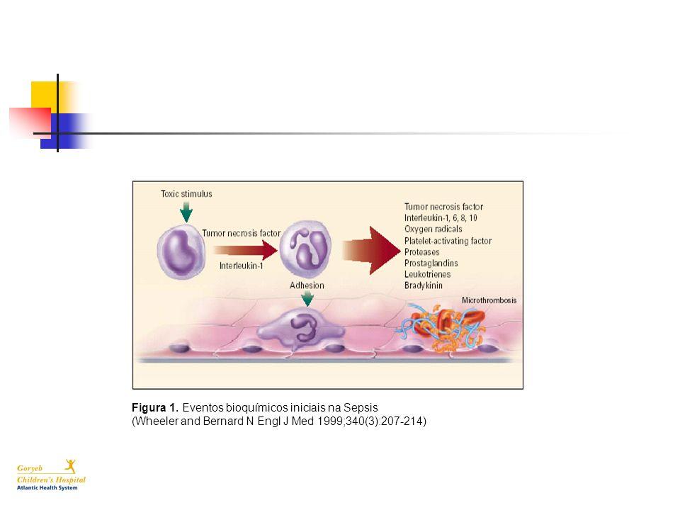 Figura 1. Eventos bioquímicos iniciais na Sepsis
