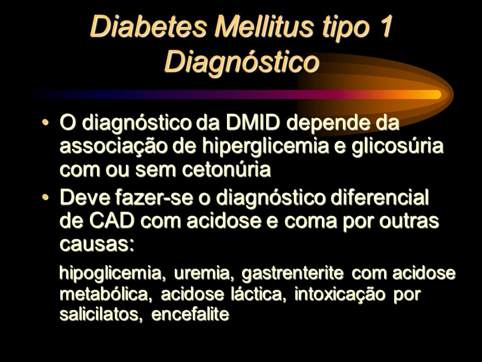 Diabetes Mellitus tipo 1 Diagnóstico