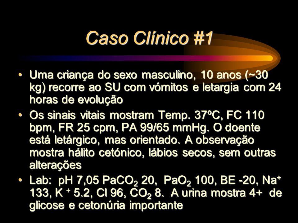 Caso Clínico #1 Uma criança do sexo masculino, 10 anos (~30 kg) recorre ao SU com vómitos e letargia com 24 horas de evolução.
