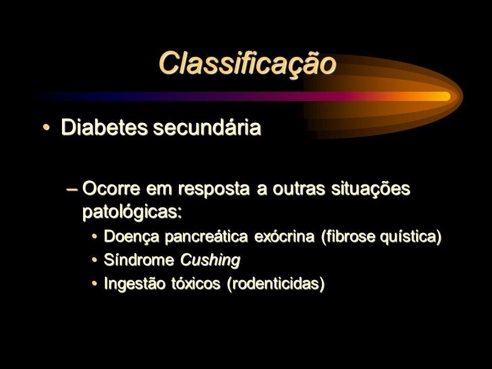 Classificação Diabetes secundária