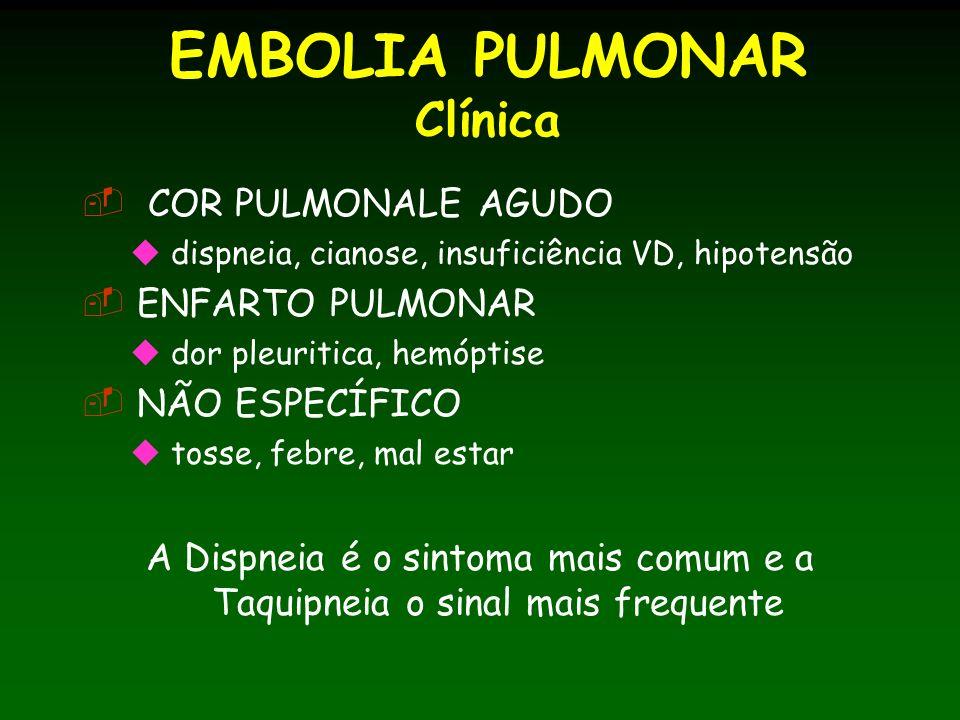 EMBOLIA PULMONAR Clínica