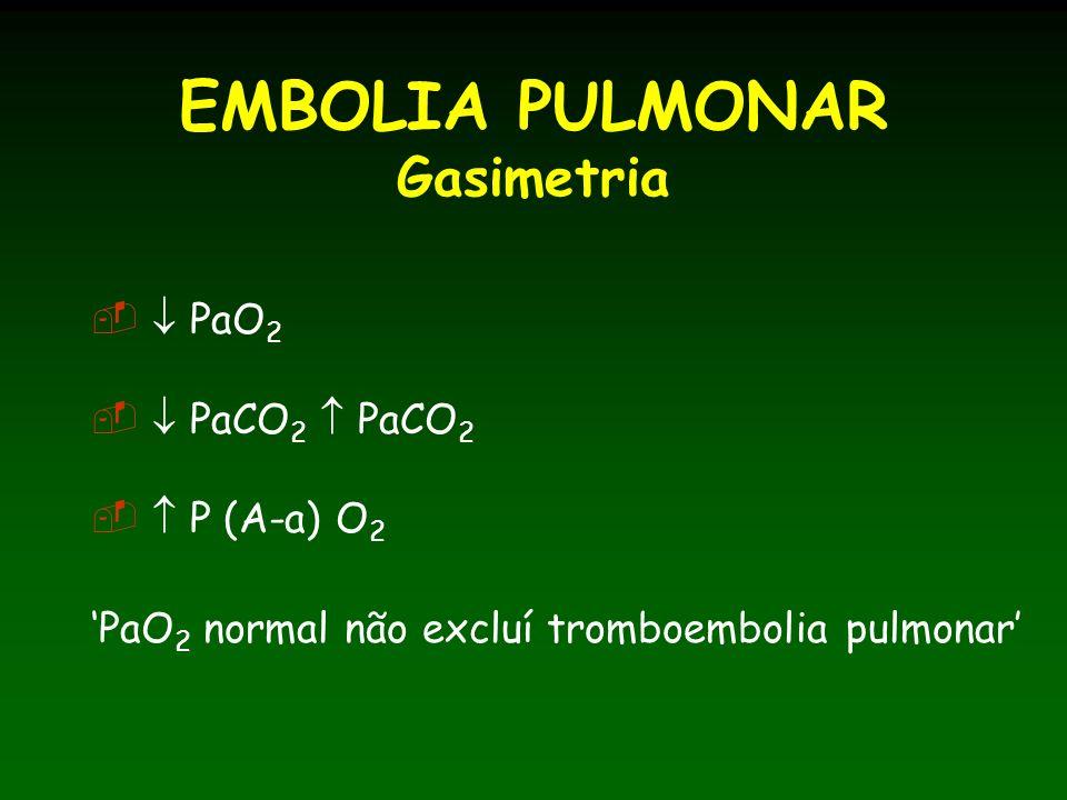 EMBOLIA PULMONAR Gasimetria