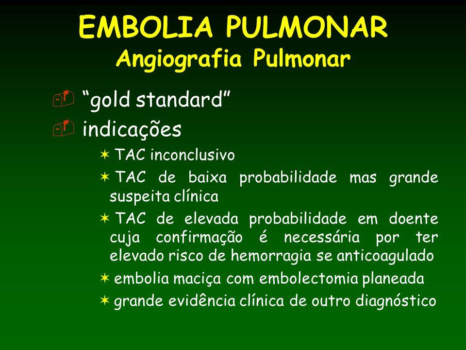EMBOLIA PULMONAR Angiografia Pulmonar
