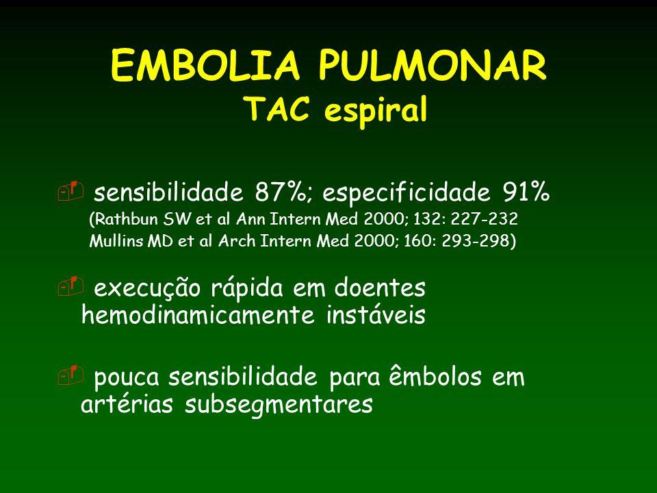 EMBOLIA PULMONAR TAC espiral