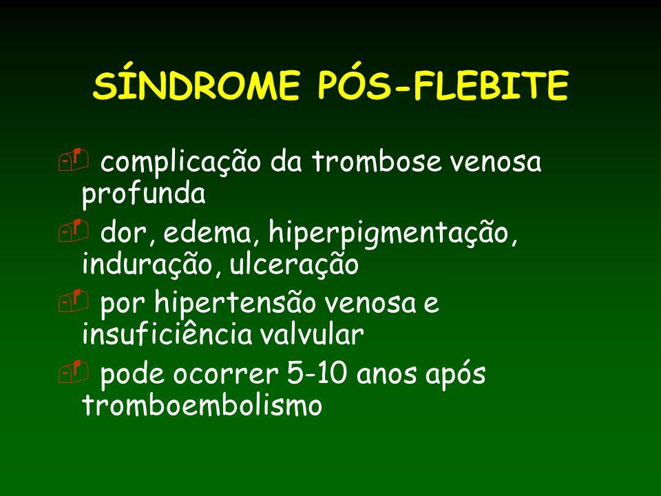 SÍNDROME PÓS-FLEBITE complicação da trombose venosa profunda