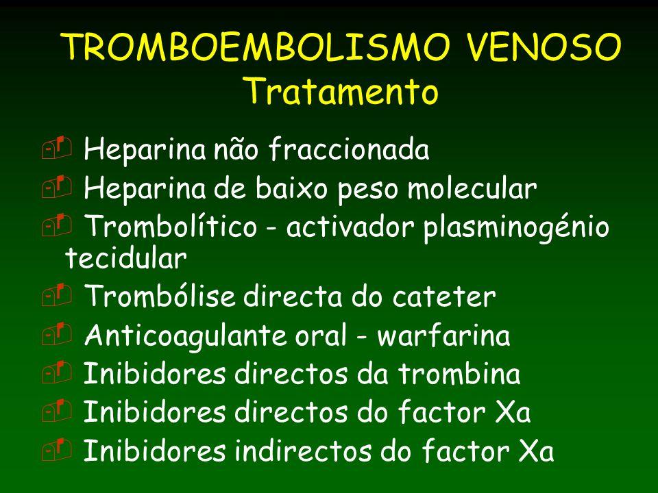 TROMBOEMBOLISMO VENOSO Tratamento