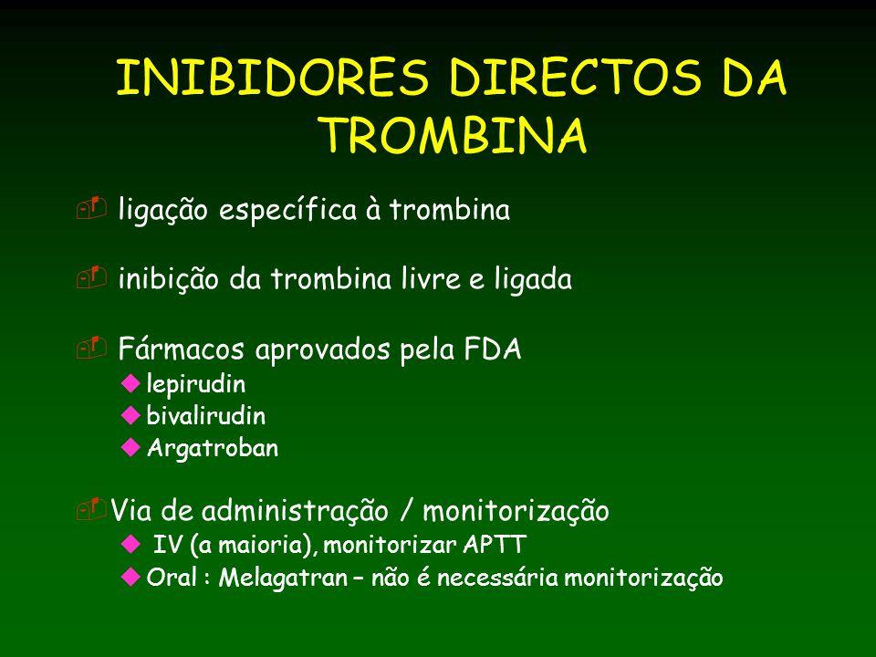 INIBIDORES DIRECTOS DA TROMBINA