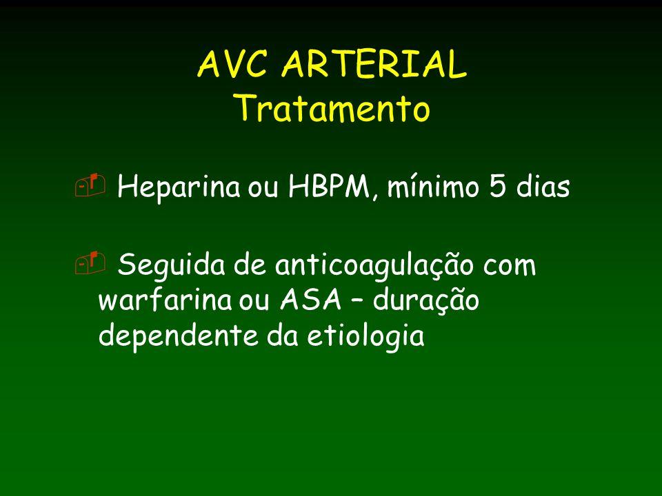 AVC ARTERIAL Tratamento