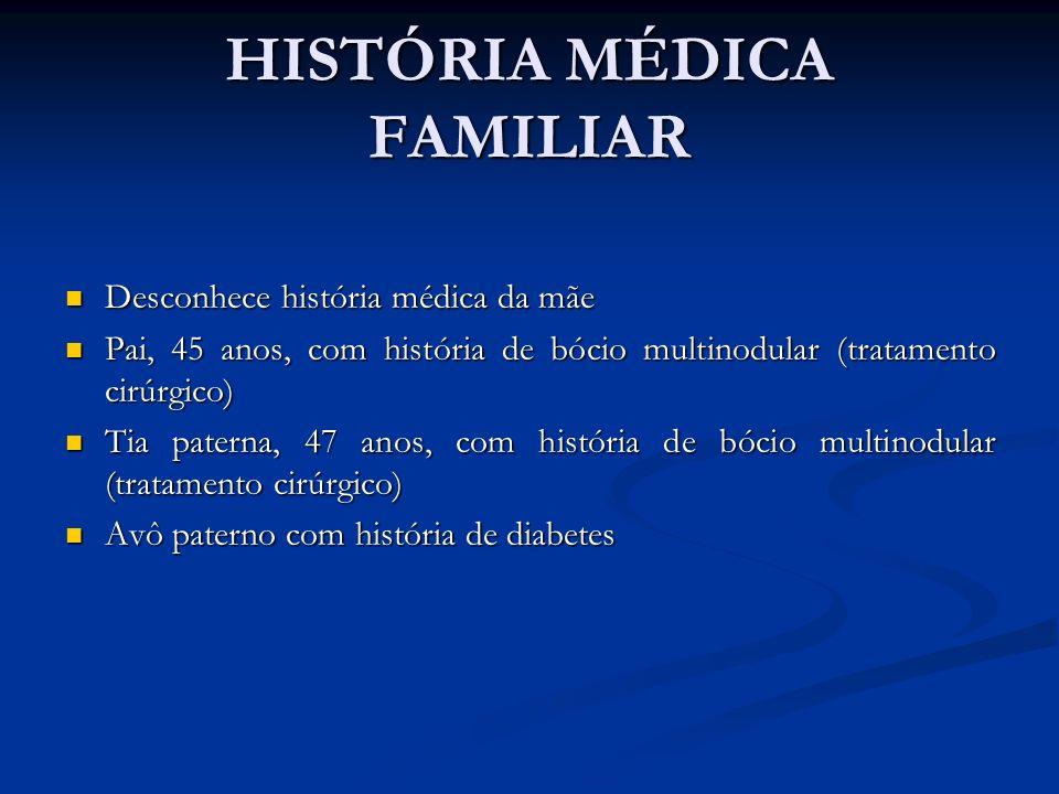 HISTÓRIA MÉDICA FAMILIAR