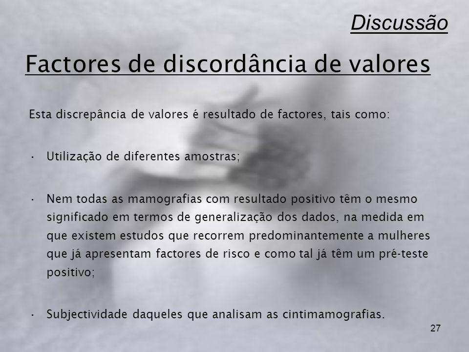 Factores de discordância de valores
