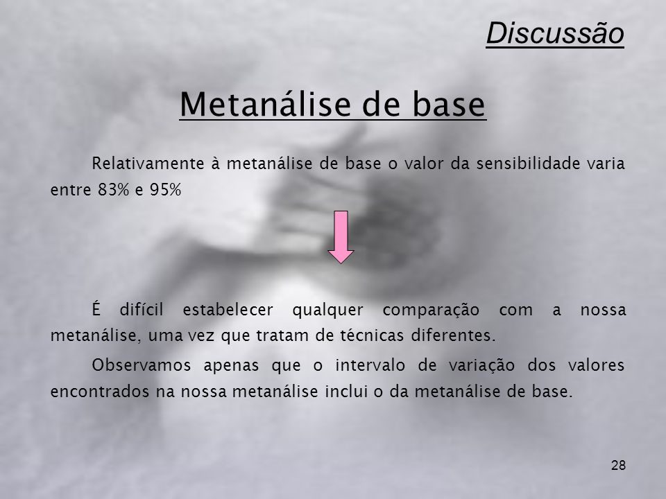 Discussão Metanálise de base