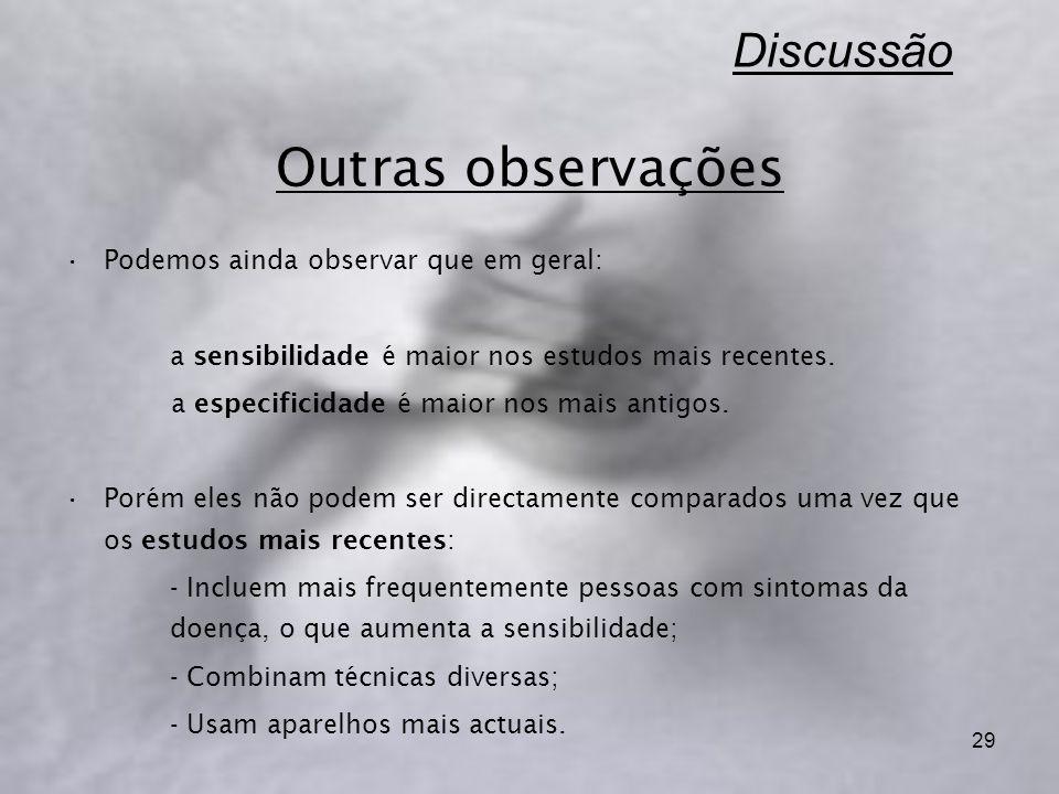 Discussão Outras observações