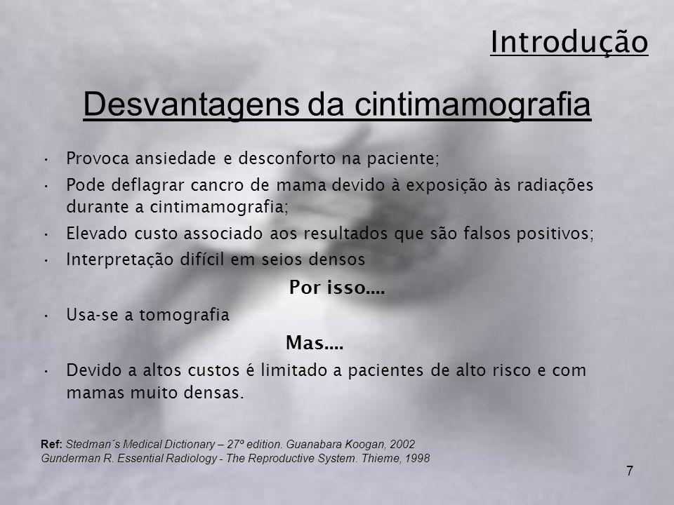 Desvantagens da cintimamografia