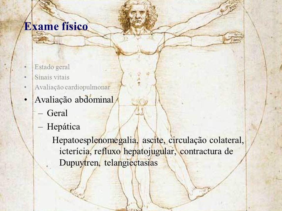Exame físico Avaliação abdominal Geral Hepática